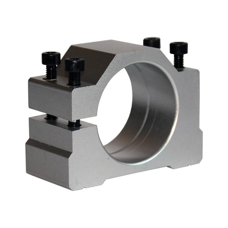 Spindle Clamp 52mm 57mm 65mm 80mm Aluminum CNC  Motor Holder Mount Bracket For  Engraving Machine