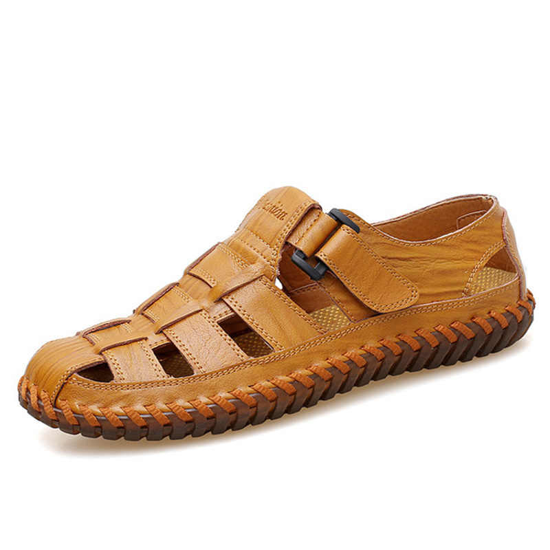 Summer Breathable Men's Leather Loafers Non-slip Casual Men's Shoes Wear-resistant Soft Business Shoes