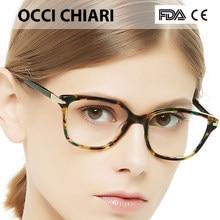 OCCI CHIARI Italie Conception demi Main effacer lentilles lunettes  Prescription Objectif Médical Optique lunettes femmes violet . 75d3005e996c