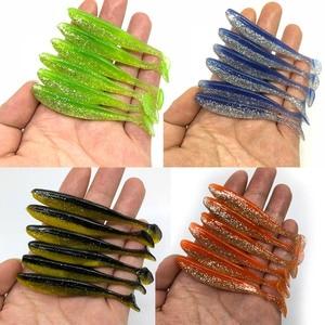 Image 2 - 6 pz/lotto Wobbler Fishing Lure 85mm 4g Easy Cleaner Swimbait Silicone esca morbida doppio colore carpa artificiale esca morbida affrontare