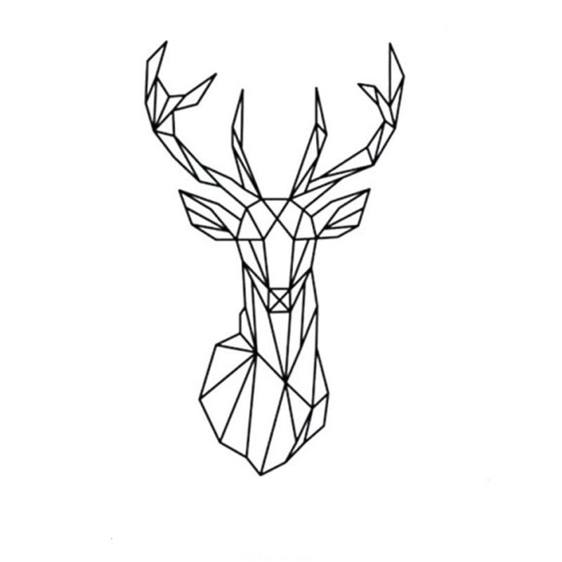 Black Friday 3d Geometric Deer Head Large Wall Sticker