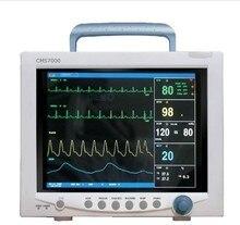 Free Shipping CONTEC CMS7000 CE FDA TFT 12.1′ Portable ICU Patient Monitor Multi Parameter SPO2 + NIBP + PR +TEMP + RE