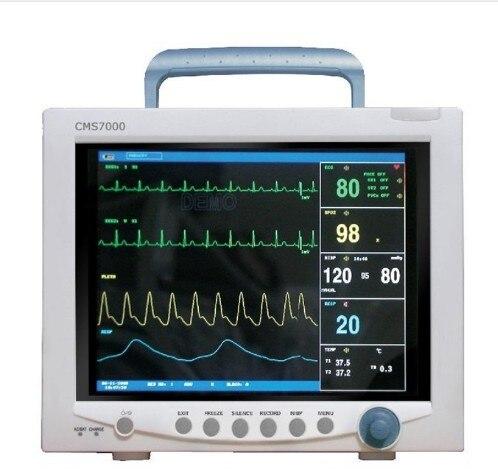 Livraison Gratuite CONTEC CMS7000 CE FDA TFT 12.1 Portable ICU Patient moniteur Multi Paramètre SPO2 + PNI + PR + TEMP + RE