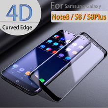 Cleiree Official 4D Curved Full Coverage Tempered Glass For Samsung Galaxy S8 S8 Plus Note 8 Screen Protector Glass Film.