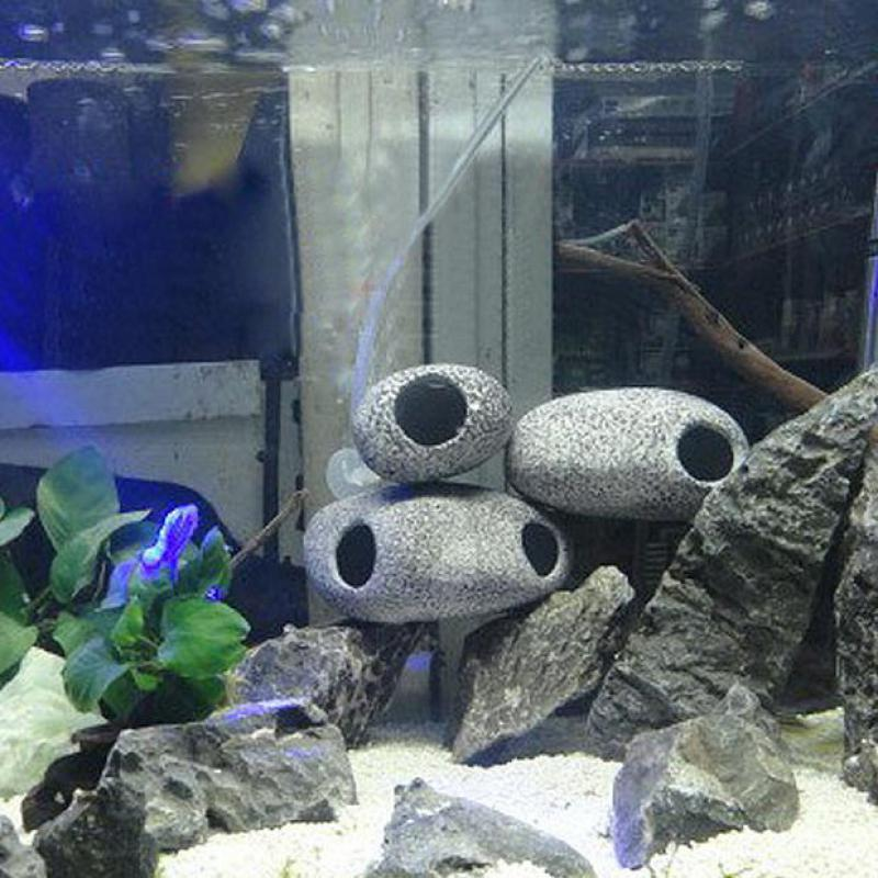 Us 6 19 35 Off 2 Size Ceramic Aquarium Cichlid Stone Rock Cave Stone Decoration Fish Tank Breeding Housing Shelter Ornament For Cichlid Fish In