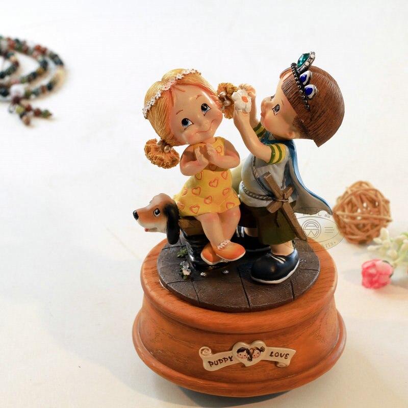 Princess rotating music box birthday wedding Christmas gift male for home decoration free shipping