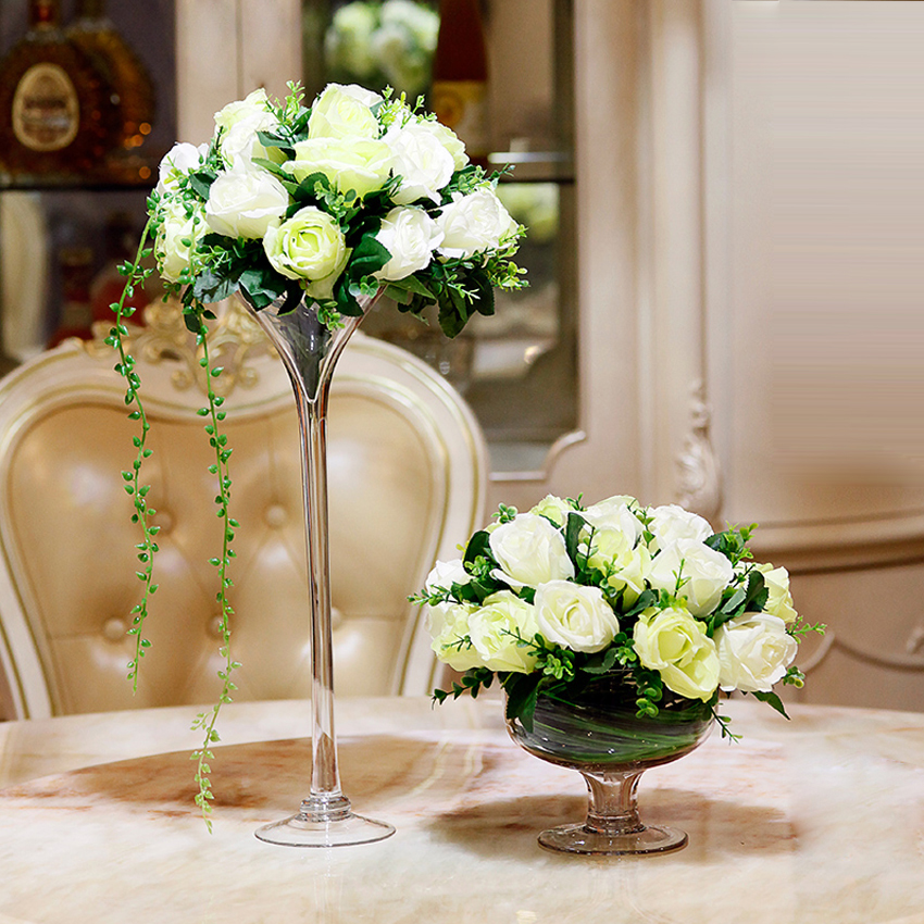 Moden creative champagne cup glass vase hydroponic vases