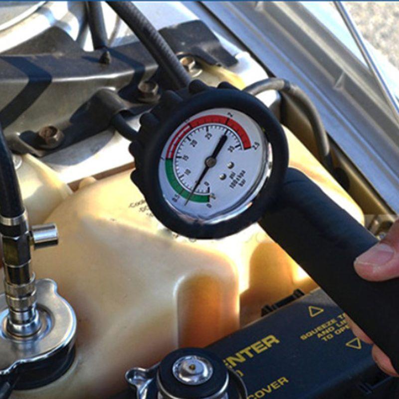 18 pièces testeur de pression de radiateur universel et détecteur de fuite de réservoir d'eau Kit de système de refroidissement de voiture kit testeur de pression de liquide de refroidissement voiture Di