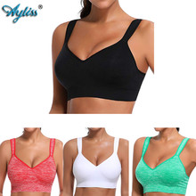 Ayliss latest 1pc High Impact Black Racerback Sport Bra Womens Wire Free Padded Cup Active Gym Tank Top