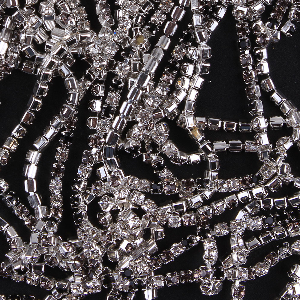ZOTOONE SS10 1Y Black Gray White Rhinestones for Clothing Stones Crystals Cup Chain Rhinestone Trim Sew on Ornament Accessories