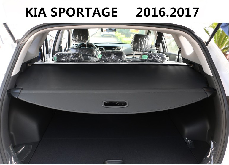 Car Rear Trunk Security Shield Cargo Cover For KIA SPORTAGE 2016.2017 High Quality Trunk Shade Security Cover Black / Beige