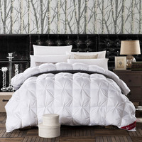 Pure White Quilted Twist Wrapped In Feathers Velvet Silk Quilt Duvet For White Cover Comforter Winter Was Super Soft 220x240cm