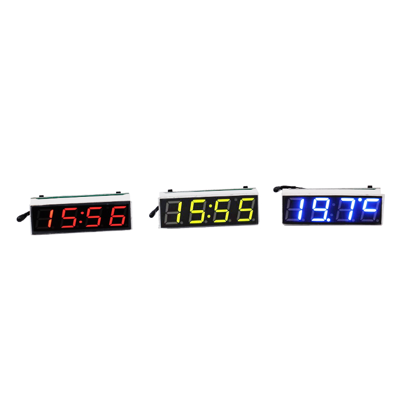 100pcslot by dhl or fedex LED New Multifunction Digital Car Voltmeter Thermometer Automobile Time Electronic Table Clocks 39%