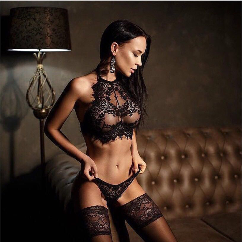 M-<font><b>XXXL</b></font> <font><b>Sexy</b></font> <font><b>Lingerie</b></font> Hot Black Lace Spliced <font><b>Erotic</b></font> <font><b>Lingerie</b></font> Costumes Temptation Transparent Sleepwear <font><b>sexy</b></font> underwear image