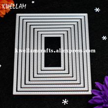 Large Size 15cm Double Sew Thread Rectangle Metal Die cutting Dies For DIY Scrapbooking Photo Album Embossing Folder KW7081801