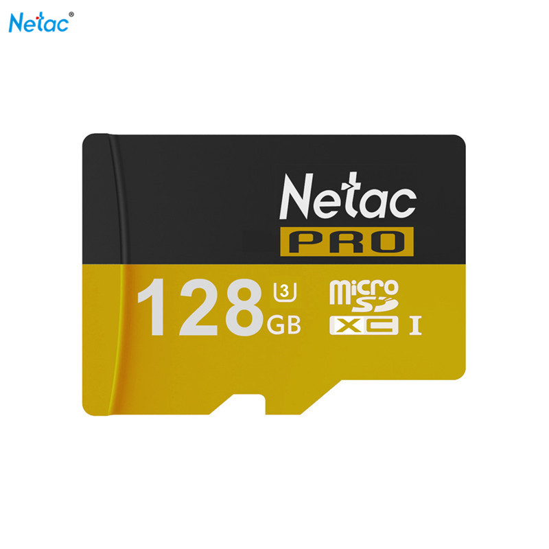 Netac Original 128GB 64GB PRO Micro SD Cards SDHC SDXC UHS-I U3 Memory Cards TF Microsd Card For Cellphone Tablet MP3 Class10 2017 crazy hot micro sd card 64gb 128gb sdxc class 10 uhs i u1 memory card sdhc 8gb 16gb 32gb tf card microsd trans flash cards