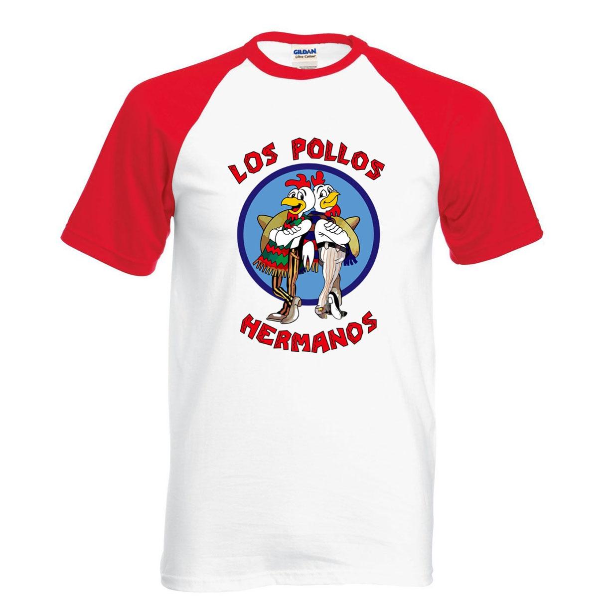 Breaking Bad Shirt LOS POLLOS Hermanos T Shirt Chicken Brothers 2019 hot sale summer 100% cotton fashion raglan tee for fans