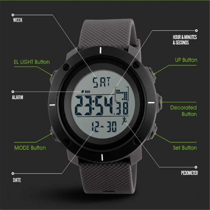SKMEI Mode Heren Sport Horloges Digitale Man Klok Horloges Outdoor - Herenhorloges - Foto 6