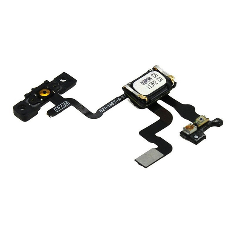 Original For IPhone 4S Power On Off Switch Button Light Sensor With Earpiece Bracket Flex Cable Replacement Parts