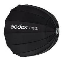 Портативный Godox P120L 120 см Глубокий параболический софтбокс Bowens крепление студийная вспышка Speedlite отражатель Фотостудия софтбокс