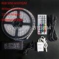 5 rolo 5050 RGB LED luz de tira flexível IP68 5 M / roll 44 teclas de controle remoto IR 12 V 5A adaptador
