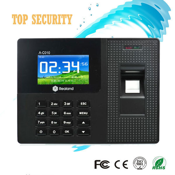 TCP/IP USB 2000 biometric fingerprint time attendance A-C010T with RFID card reader tcp ip fingerprint time attendance color screen 2000 user time attendance fingerprint password rfid card time atteendance