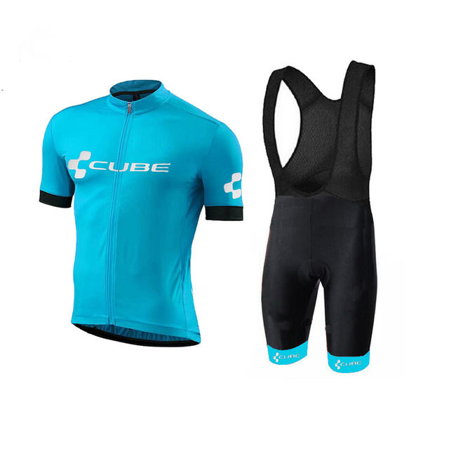 2018 New CUBE Pure Color Team Cycling Jersey Sets Breathable  MTB Bike Bicycle Clothing Ropa Ciclismo Bicicleta Maillot Suit ckahsbi men cycling jerseys sets ropa ciclismo pro short sleeves bike team suits 2017 hot sale cycling clothing mtb bicycle sets