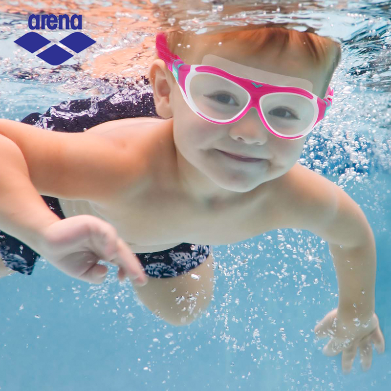 Arena HD Waterproof Swimming Goggles for Child Kids Large Box Swimming Glasses  Anti-Fog UV Swim Eyewear AGG-390J