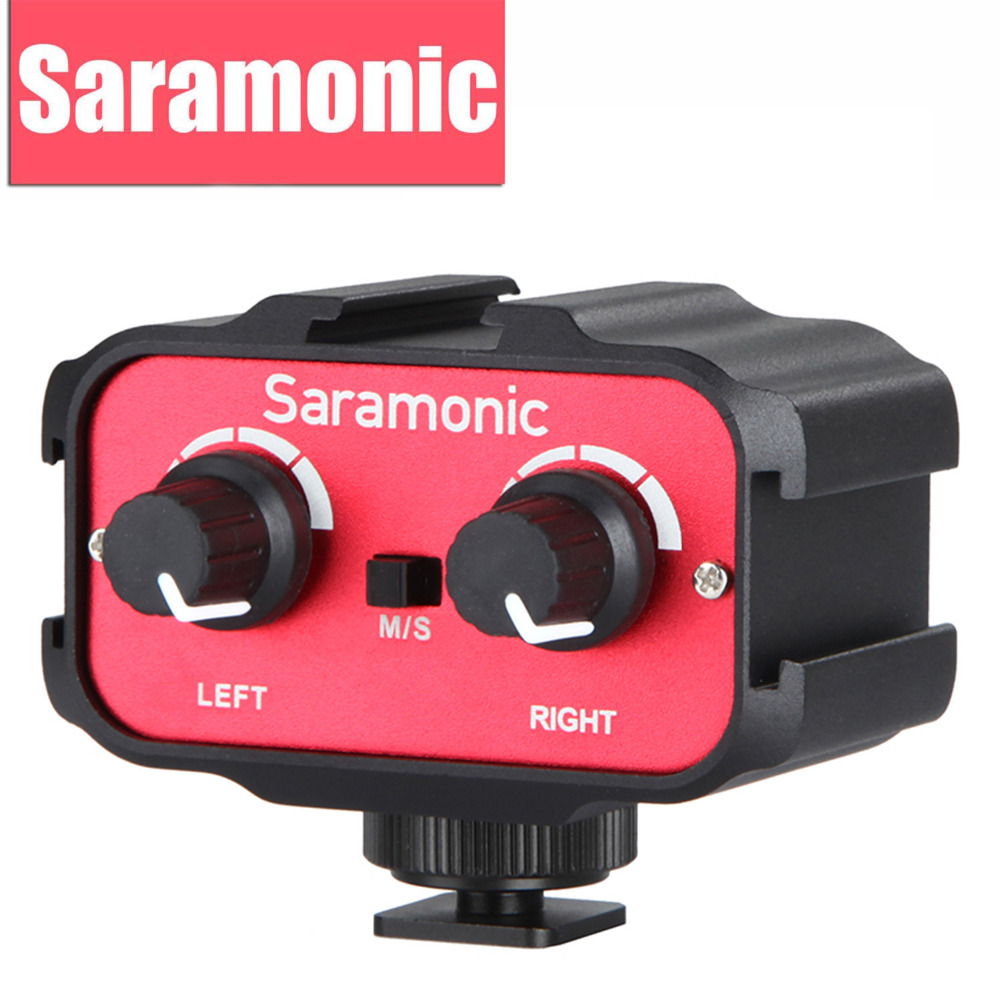 Saramonic Universal Microphone Audio Adapter Mixer with Stereo & Dual Mono 3.5mm Inputs for Canon Nikon DSLR Camera Camcorder luxury fashion watch women watches rose gold women s watches ladies watch clock saat relogio feminino reloj mujer montre femme