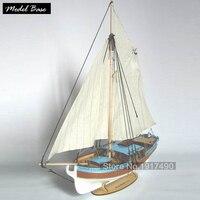 Деревянный корабль комплекты моделей поезд хобби модель дерево лодки 3d лазерный масштаб 1/24 Модель корабль сборка образовательная яхта Шве