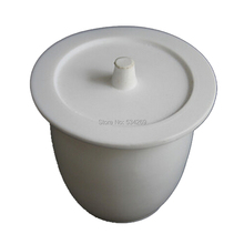 50ml PTFE Crucible with Cover Lid Teflon Laboratory Crucible for Chemistry Experiment