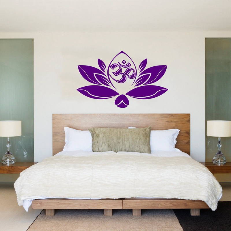 Buddha Quotes Namaste Wall Decals Yoga Mandala Wall Stickers Living Rooms DIY Home Decor Yoga Lotus Decoration diy photo frame tree home decals wall stickers