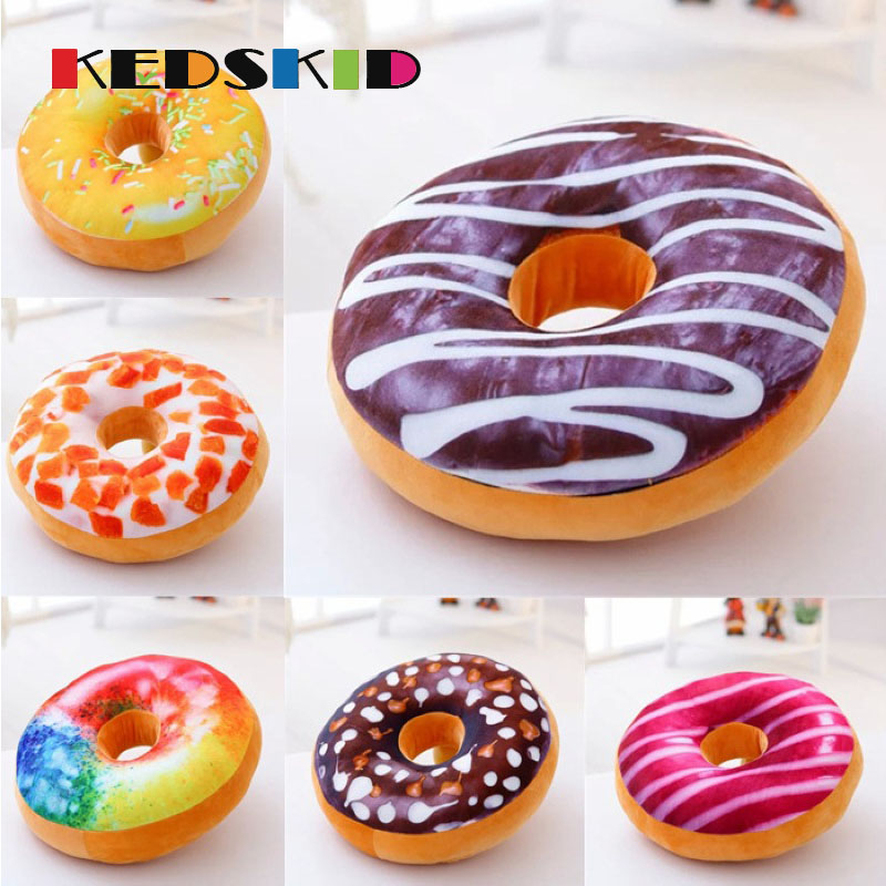 New 3d Donuts Pillow Food Shape Pillow Cushion For Leaning