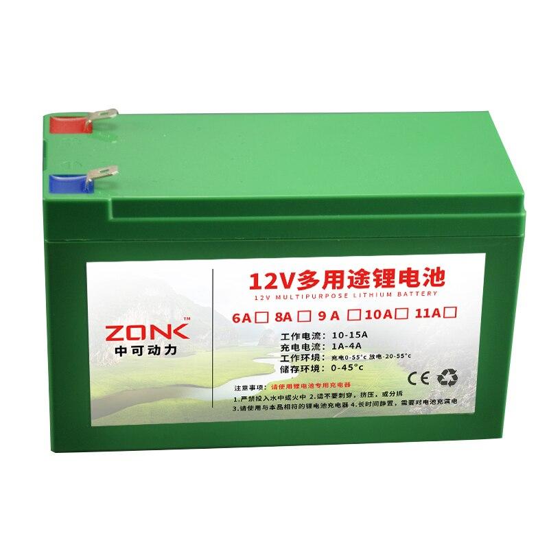 Batterie rechargeable d'ion de Lithium de 12 V 12AH, 11AH, 10AH, 9AH, 8AH, 7AH, 6AH pour la source d'énergie d'ion de li