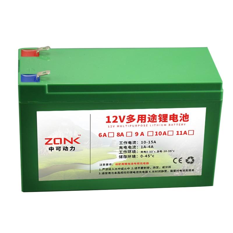 12 V 12AH, 11AH, 10AH, 9AH, 8AH, 7AH, 6AH Lithium ion batterie rechargeable pour li ion source d'alimentation