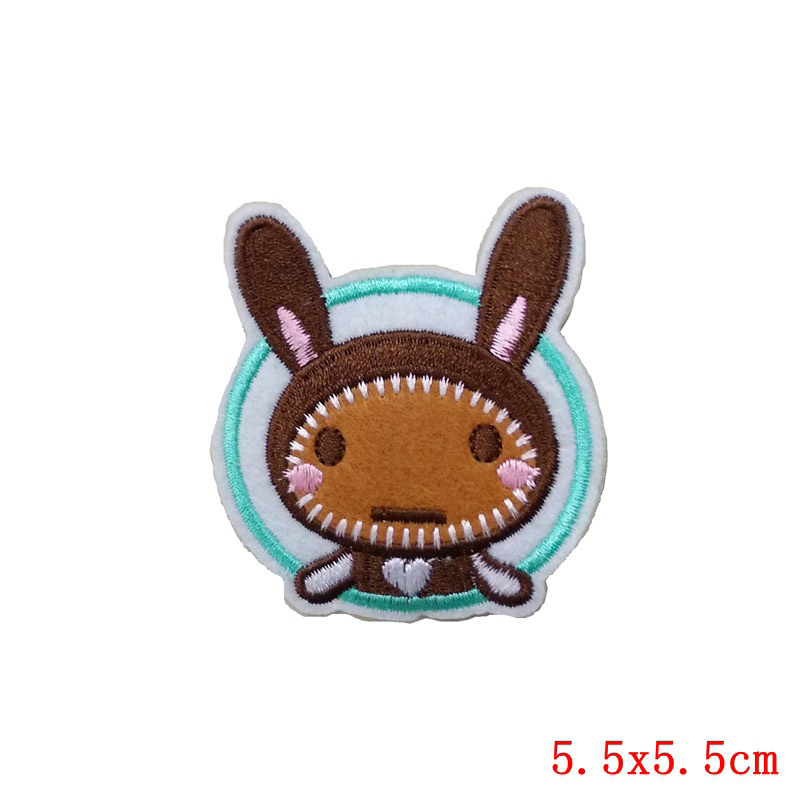 Cartoon Animal Patch Stickers Iron on Clothes Heat Transfer Applique Embroidered Rabbit Applications Cloth Fabric Sequin Patches in Patches from Home Garden