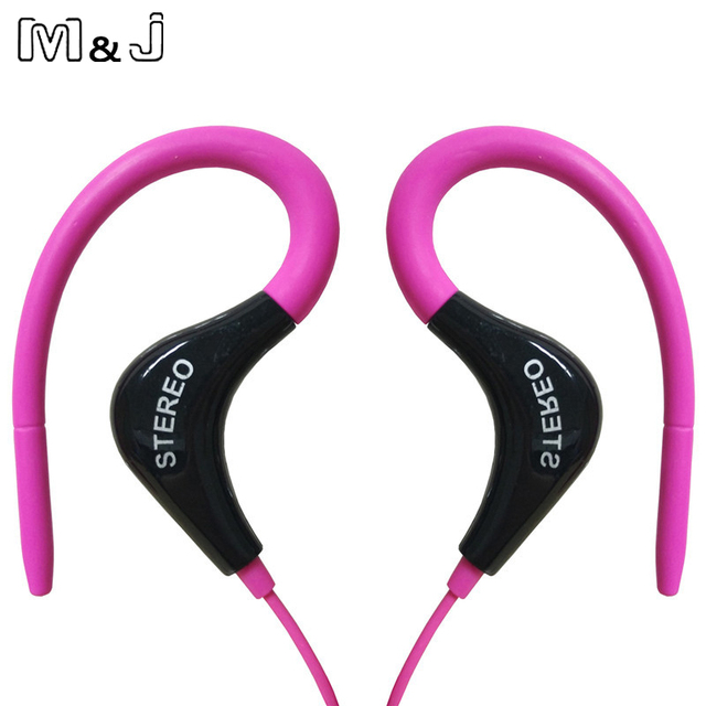 M&J Wholesale 3.5mm sport Earphones Headphone Headset with Mic For iPhone Samsung Xiaomi MP3, High quality Bass For Running