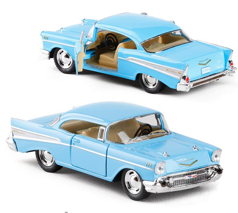 1:43 scale alloy pull back car models,high simulation Chevrolet Bel air 1957,metal diecasts,kid's toy vehicles,free shipping