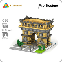YZ 055 World Famous Architecture Arch of Triumph Gate 3D Model Mini Diamond Micro Building Blocks Brick Assembly Toy no Box цена