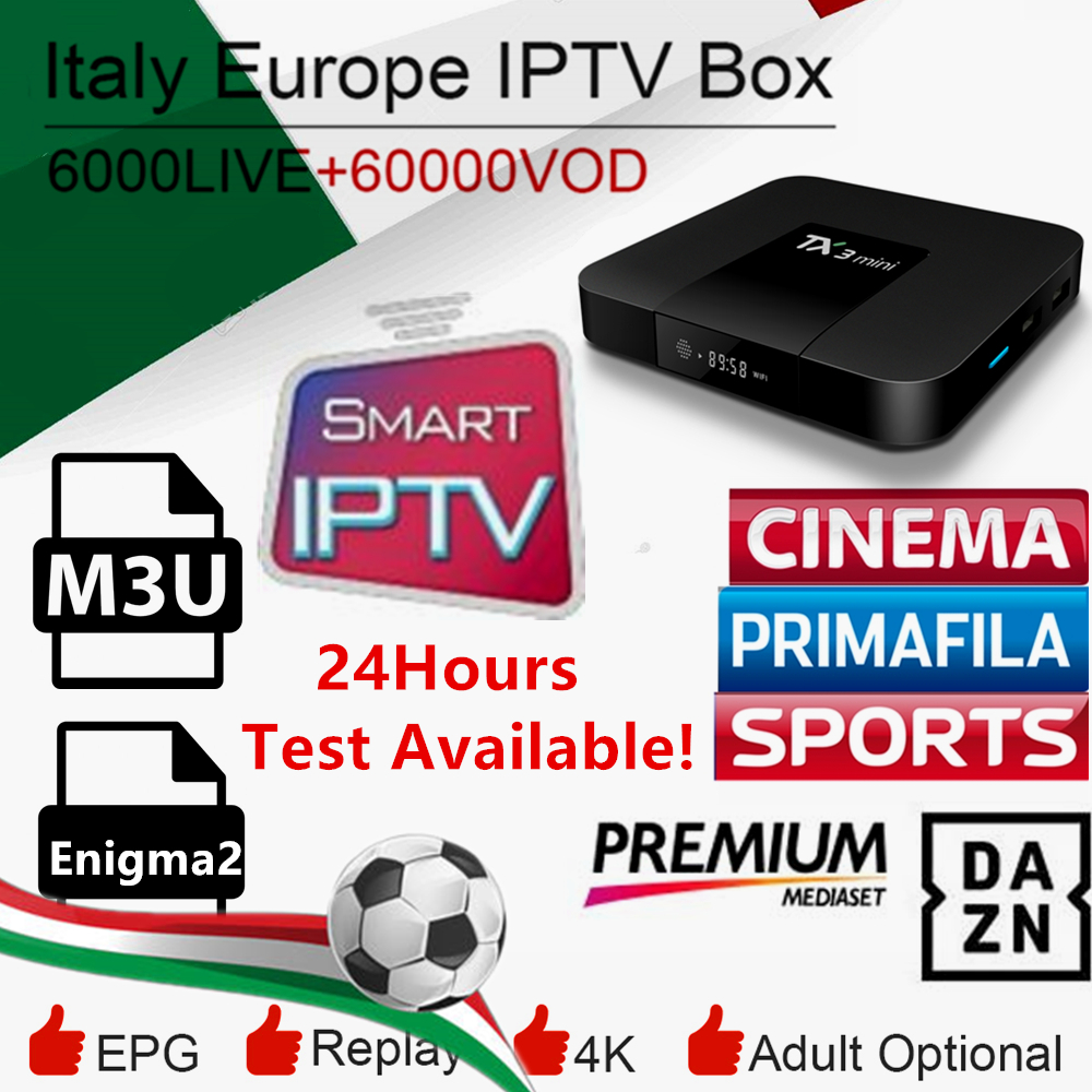 Italy Iptv Box Iptv Dazn Italia UK Germany French Belgium