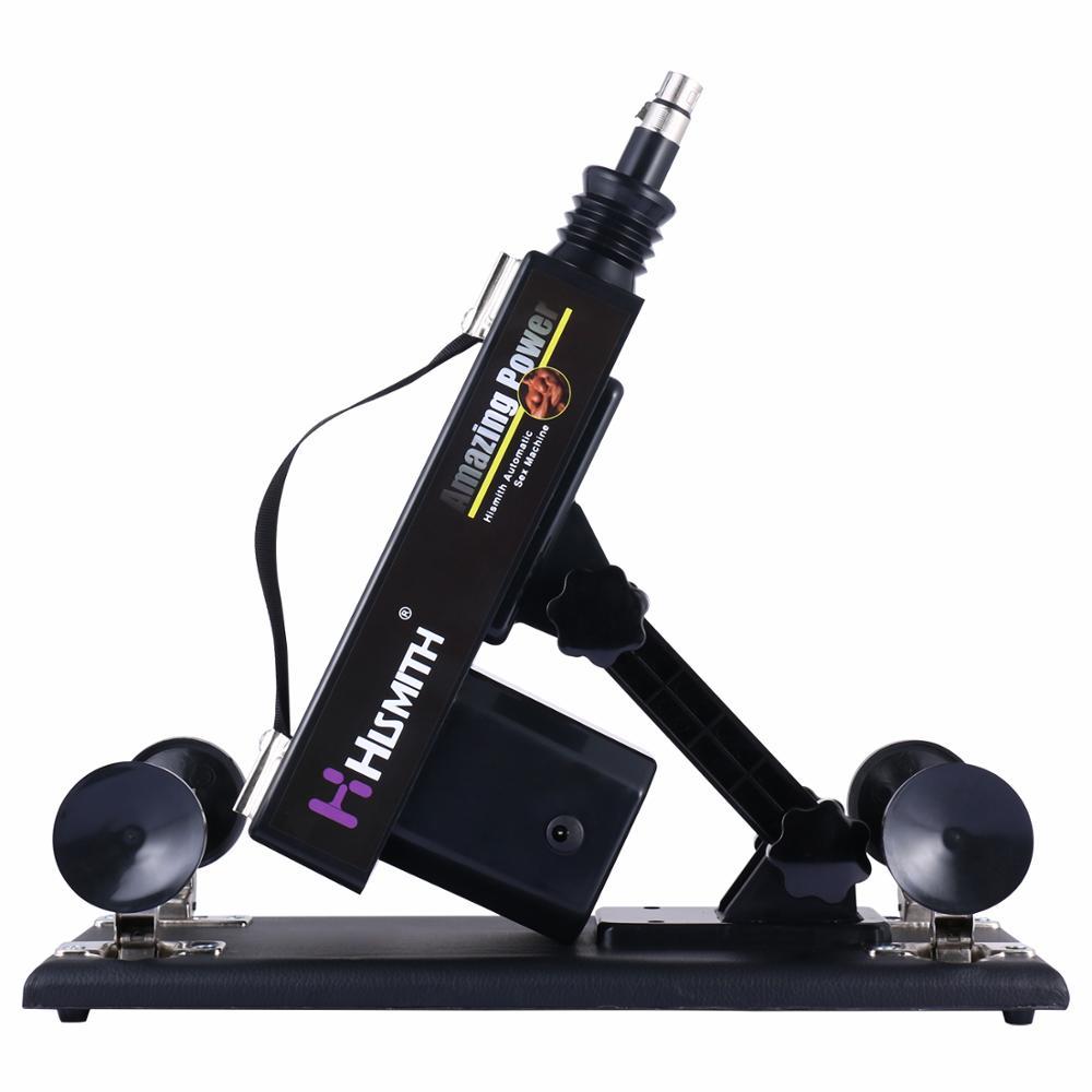 Hismith Automatic Sex Machine Multi-speed Sex Toy Vibrator 5 Pcs Combination Retractable Sex Machine Gun for Women