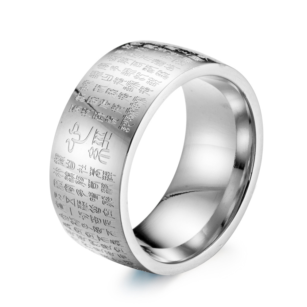 Delicieux 10mm Wide Men Wedding Bands Religious Ethnic Ring For Him Titanium Surgical  Steel Fashion Jewelry Latest Design Ring For Men  In Rings From Jewelry ...