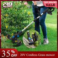PROSTORMER 20V Cordless Electric Grass Trimmer 2000mAh Lithium Electronic Mower Trimmer Pruning Cut Garden Tools