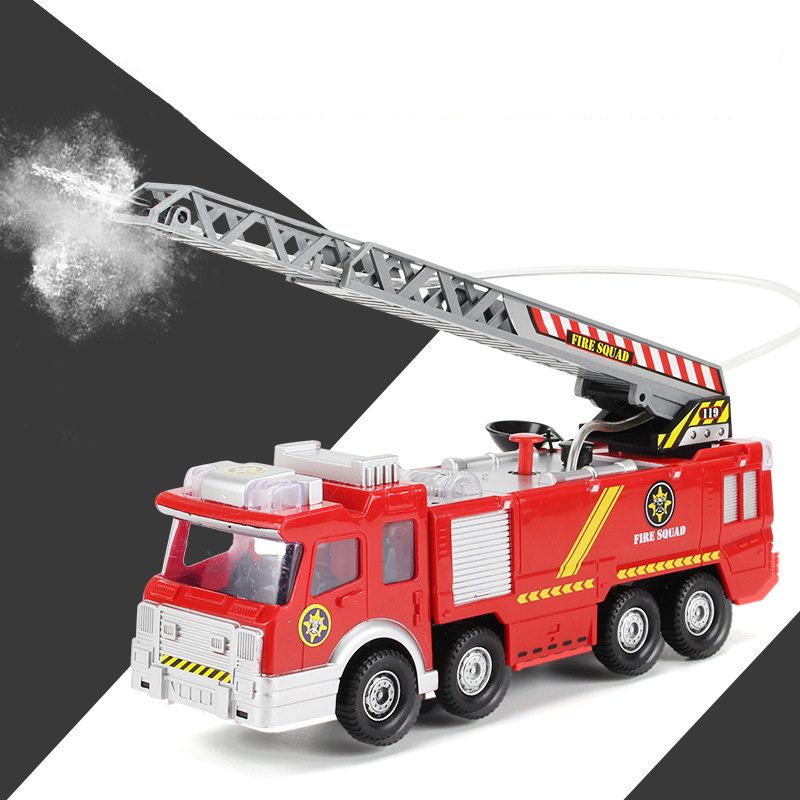 Us 22 19 34 Off Juguetes For Fireman Sam Kids Toys Electric Fire Truck With Lights Sirens Baby Gift Fire Engine Educational Water Spray Toy In