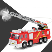 Juguetes for Fireman Sam Kids Toys Electric Fire Truck with Lights & Sirens Baby Gift Fire Engine Educational Water Spray Toy