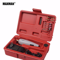 MAXMAN Mini Electric Drill 15pcs DIY For Dremel Accessories Grinding Tool Electric Grinder Engraving Pen Electric