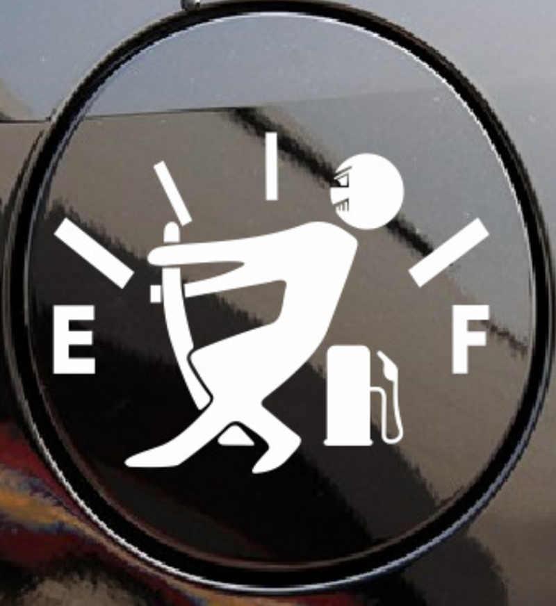 Adesivo auto Adesivi Per Auto Divertente di Alta Consumo di Gas Decalcomania Carburante Gage Vuoto Adesivi Per Auto Auto Accessori Styling per volkswagen audi