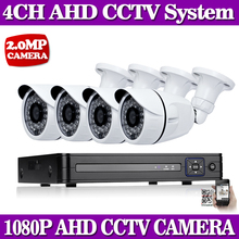 4CH CCTV System 1080P HDMI AHD 4CH CCTV DVR 4PCS 2.0 MP IR Outdoor Security Camera 1080P Camera Surveillance System Waterproof