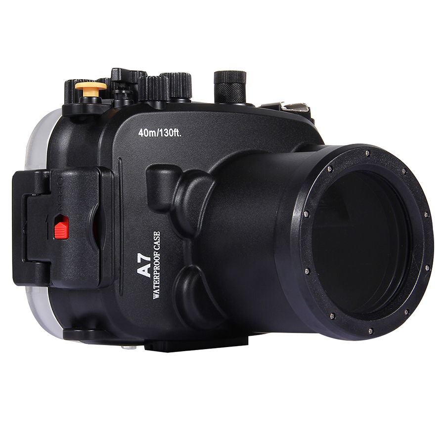 Polycarbonate 40M 130FT Underwater Diving Camera Cover Waterproof Shockproof Case for SONY A7 A7R A7S 28 70MM