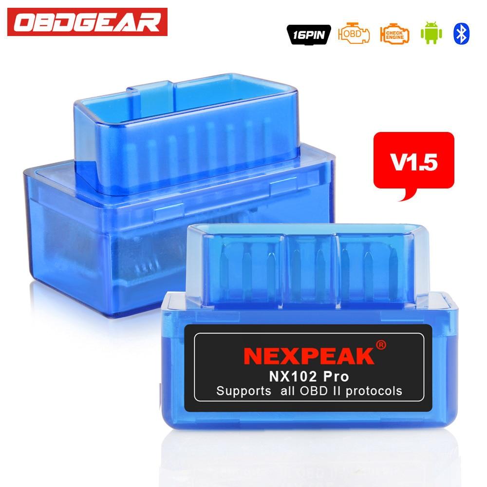 EML327 OBD2 V1.5 Automotive Scanner ELM 327 V1.5 OBD 2 ODB2 Autoscanner ELM-327 V 1.5 OBD2 Bluetooth Adapter Russian-Speaking
